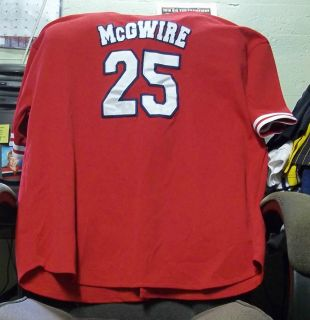 Sport Attack St. Louis Cardinals #25 MARK McGWIRE Red Stitched Jersey