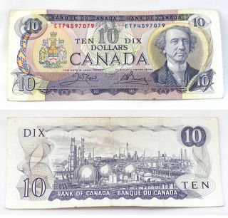 1971 ETP4597079 Canadian Bank of Canada $10 Dollar Bill Paper Money