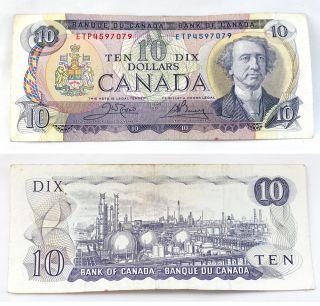 1971 ETP4597079 Canadian Bank of Canada $10 Dollar Bill Paper Money