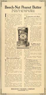 1914 Ad Beech Nut Peanut Butter Canajoharie NY Ada Mae   ORIGINAL