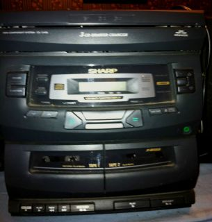 Sharp Model CD C406 Cassette CD Radio Compact Stereo Player