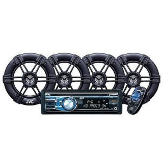 JVC Car Stereo HD Radio CD Receiver with 2 Pair of Speakers