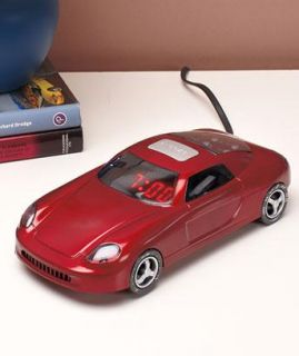 Race Car Alarm Clock Radio Red Blue or Black