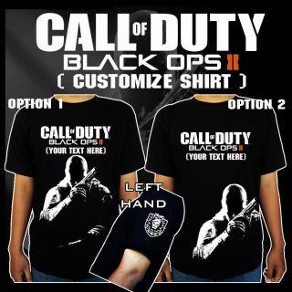 Cod Call of Duty Black Ops 2 II Xbox360 PS3 PC Black T Shirt Tee