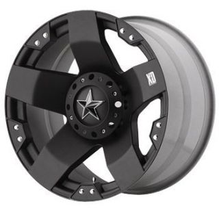 24 XD 775 Rockstar Offroad Black Truck Rims Wheels Tires
