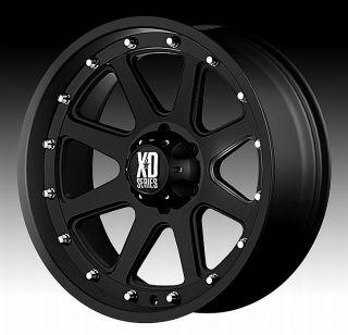 Matte Black Wheels Rims 8x6 5 8 Lug Chevy GM Dodge HD Truck