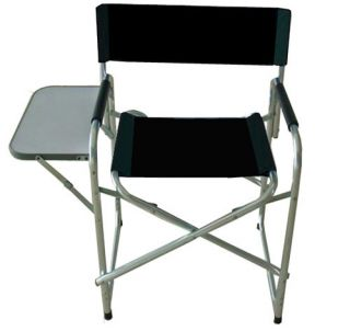 Folding Camp Chair with Side Table and Storage Pocket