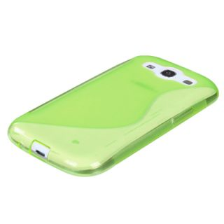 Apple Green(S Shape) Candy Skin Cover For SAMSUNG Galaxy S 3/III/GS3