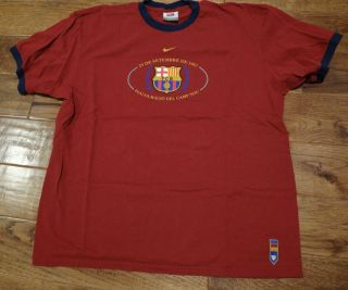 Nike FC Barcelona T Shirt Size XL FCB 1957 Camp Nou Tribute Rare Messi