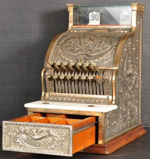 Antique National NCR brass candy store cash register mint condition