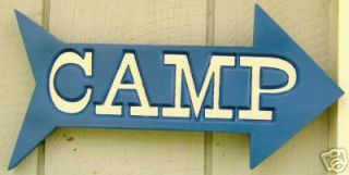 Camp Wood Sign Custom Carved Camping