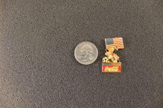 USA 1994 World Cup Pin with Dog American Flag and Soccer Ball