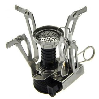Picnic Cookout Portable Steel Camping Stove Mini Gas Burner