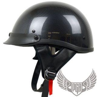Carbon Fiber PGR Motorcycle Half Helmet Harley M Medium