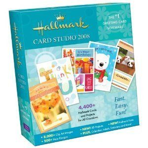 Hallmark Card Studio 2008 New 1 Greeting Card Software Multi Disc Set