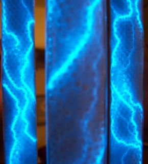 LIGHT LIGHTNING TUBE LAMP CRACKLE TUBE TESLA COIL Can You Imagine