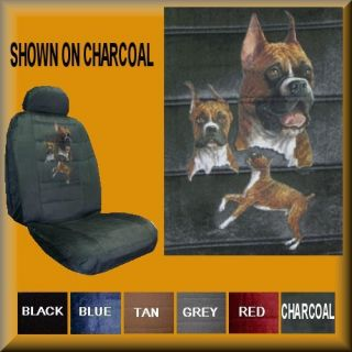 New Boxer Dogs Fawn Car Truck Van SUV Seat Covers PP