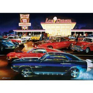 # 71208 1000 pc Jigsaw Puzzle   Saturday Night   Cars Drive in