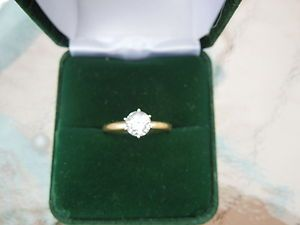 00 Carat Diamond Engagement Ring 18K Solid Yellow Gold