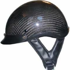 CARBON FIBER LOOK SHORTY   MOTORCYCLE HELMET   Shorty Beanie Helmets