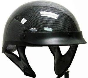 Carbon Fiber Motorcycle Half Helmet Scooter Dot Biker M
