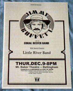 Jimmy Buffett Concert Poster   Pink Crustacean Tour   Bellingham, WA
