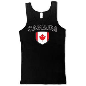 Canada Soccer T Shirt Flag Football Tank Top Girl Tee