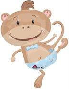 Baby Boy Newborn Monkey Balloons Party Shower Supplies