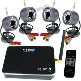 Wireless 4 IR Camera CCTV Home Security DVR System