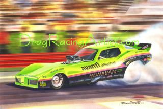 Latest Painting from The Drag Racing Artist David Carl Peters