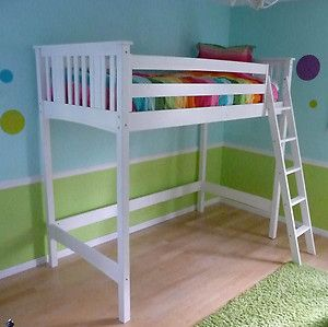 Canwood Base Camp Twin Size Loft Bed Frame