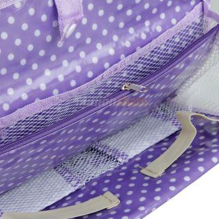 Function Large Capacity Handbag Tote Case Storage Bag Mummy Bag Purple