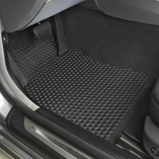 BMW 750i All Weather Black Floor Mats Front and Rear 06 08