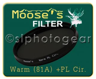 Hoya Moose Warm 81A Circular Polarizer 77mm Filter 77
