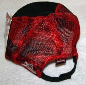 Dale Earnhardt Jr NASCAR Budweiser Number 8 Black Red Hat Cap One Size