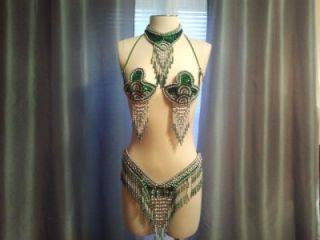 BNWOT Green Samba, Passista, Carnival, Rio Costume, 0 6, XS M