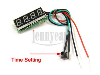 Digital Car Clock 0 28 LED 12V Watch DC7 30V Clock for Vehicles Auto