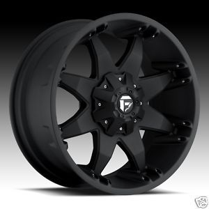 Octane Wheel Set Matte Black Truck Rims Ford Chevy Dodge Wheels