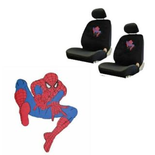 SpiderMan Marvel Comic Super Hero Low Back Bucket Car Seat Covers Set