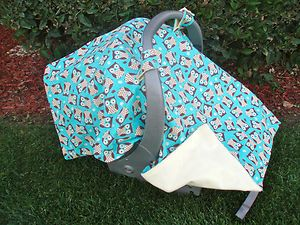 Baby Infant Car Seat Cover Owls for Boys
