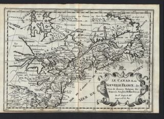 Canada Hudson Bay St. Lawrence River Great Lakes 1699 Sanson antique