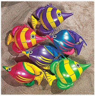 Striped Inflatable Tropical Fish LUAU pool PARTY DECORATIONS