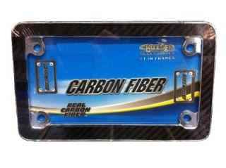 Honda BMW Carbon Fiber Super Motorcycle Bike License Plate Frame