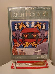 Noahs Ark Latch Hook Kit Caron New with New Latch Hook Tool
