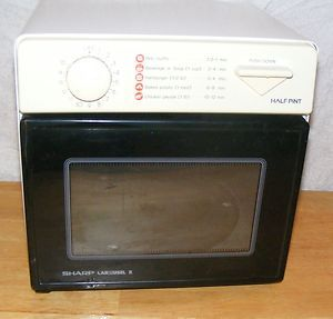 Half Pint Sharp Carousel II Microwave Great Size for Camping RVs Dorms