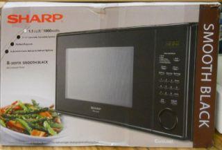 Sharp Carousel Counter Top Microwave Oven 1000 Watt R 309YK Black