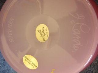 Antique Signed Carder Steuben Rosaline Flared Rim Bowl
