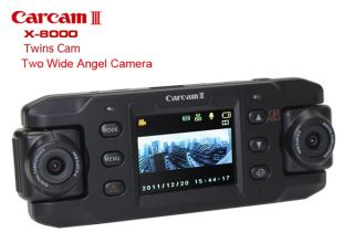 Dual Wide Angel Camera X8000 HD Car Camcorder GPS G Sensor Password