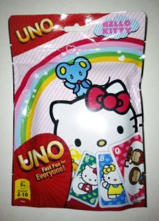 features of uno hello kitty same great uno plus the exclusive hello