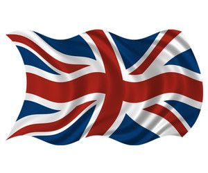 Britain Union Jack Wavy Flag British UK Car Vinyl Bumper Sticker Decal